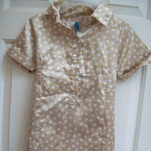 Gold Polka Dot Dress by Blu , Girl Size 8